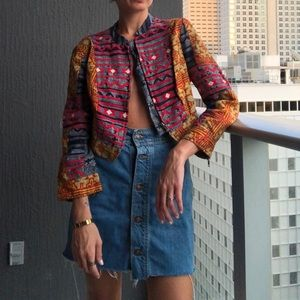 Free people cropped military blazer
